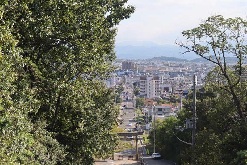 神門口回頭瞭望屋島市區街景