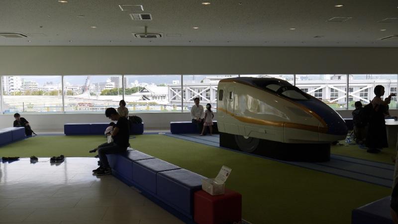 學齡前兒童的鐵道火車遊戲區