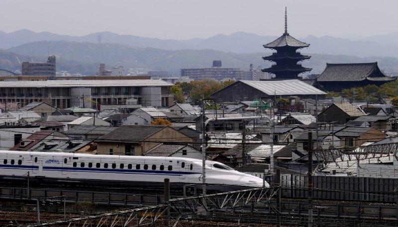 新幹線與東寺