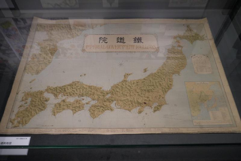 過去日本鐵道院的管轄地圖