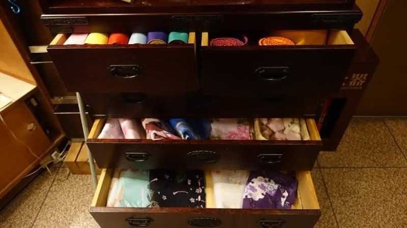 各種花色的浴衣
