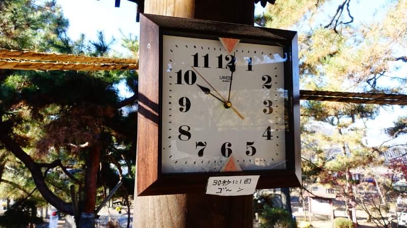 上田信濃國分寺鐘樓上的時鐘