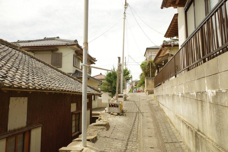 銚子電鐵外川站周邊的民房及小徑