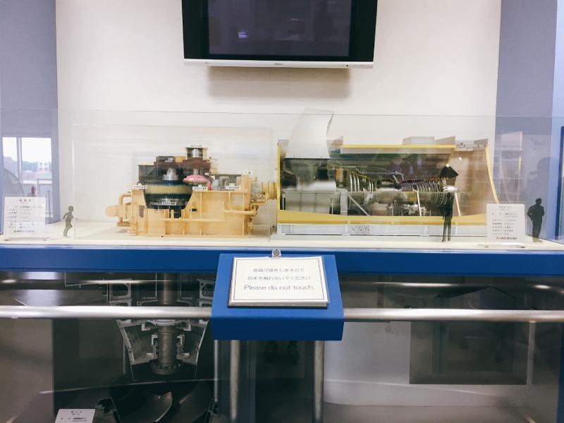 龍Q館排水設施幫浦的模型介紹展示