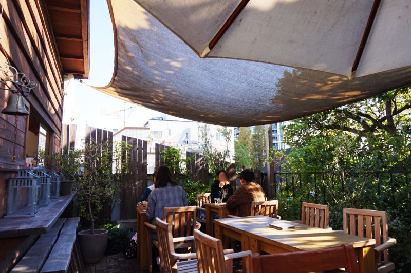 樹屋咖啡Les Grands Arbres露天座位