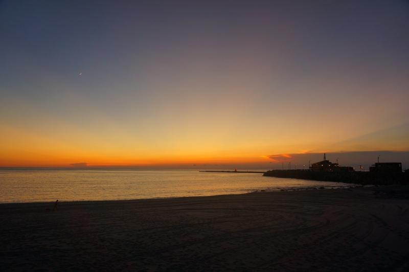 前濱海岸夕陽