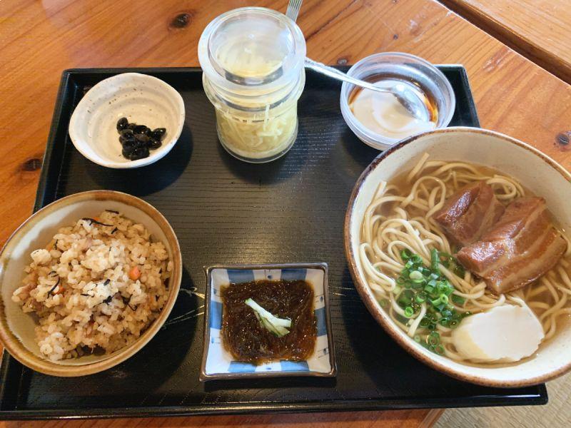 沖繩麵 下門三枚肉套餐