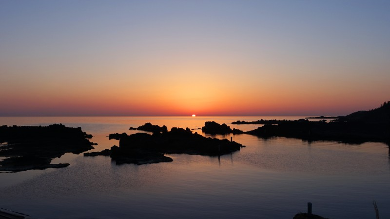 宿根木海岸夕陽