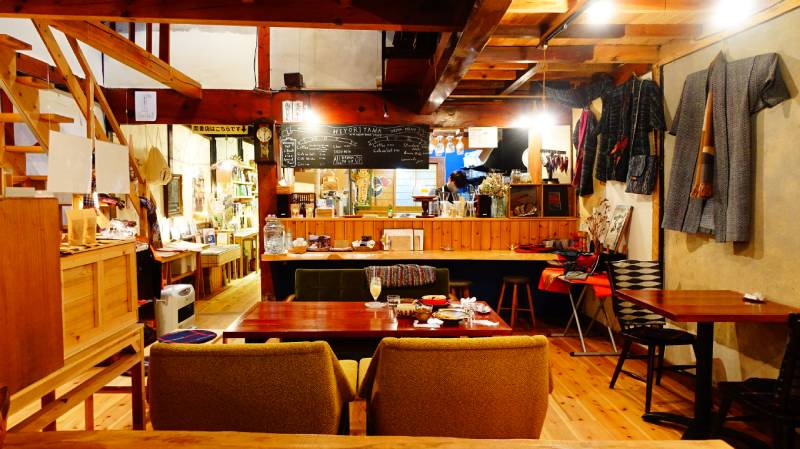 Cafe日和山 南書店店內