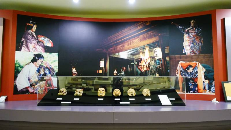 佐渡博物館內能樂面具展示