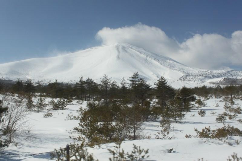 冬天的淺間山