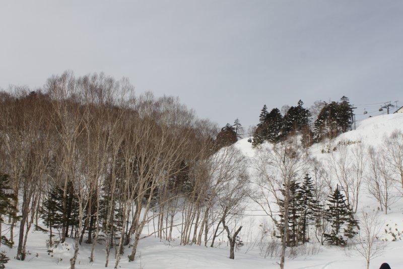 萬座溫泉滑雪場內