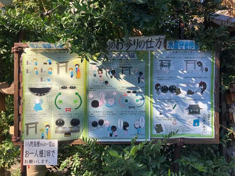川越熊野神社八咫烏
