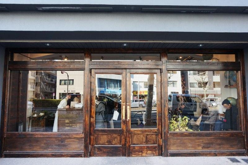 藏前咖啡店喫茶半月的正門外觀