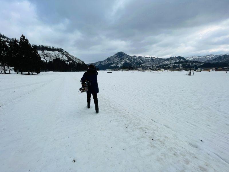 只見町冬天雪景