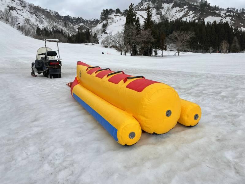 雪上摩托車和香蕉船