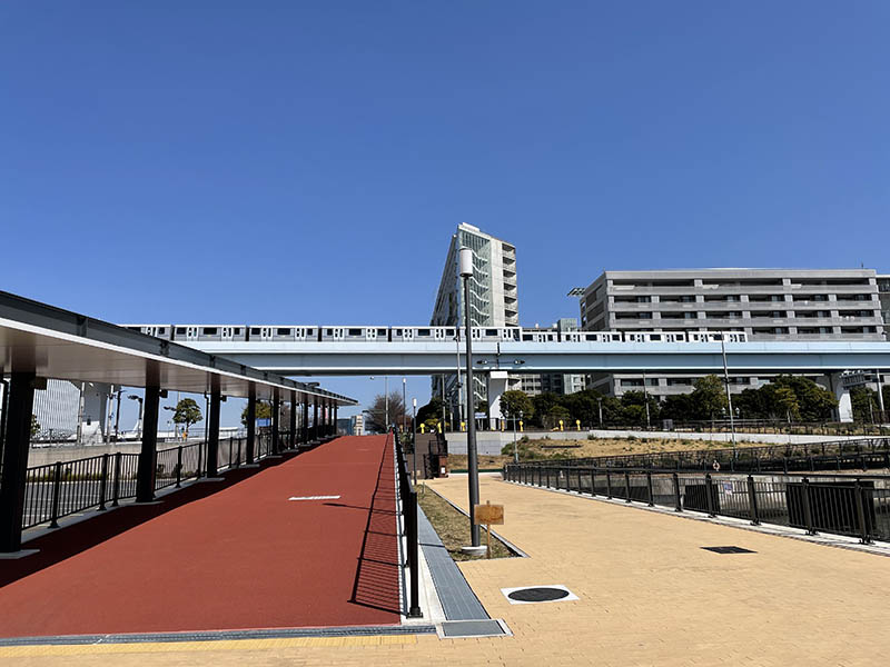 前往東京國際郵輪碼頭站的路徑