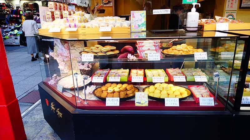 仲見世通上的和菓子店