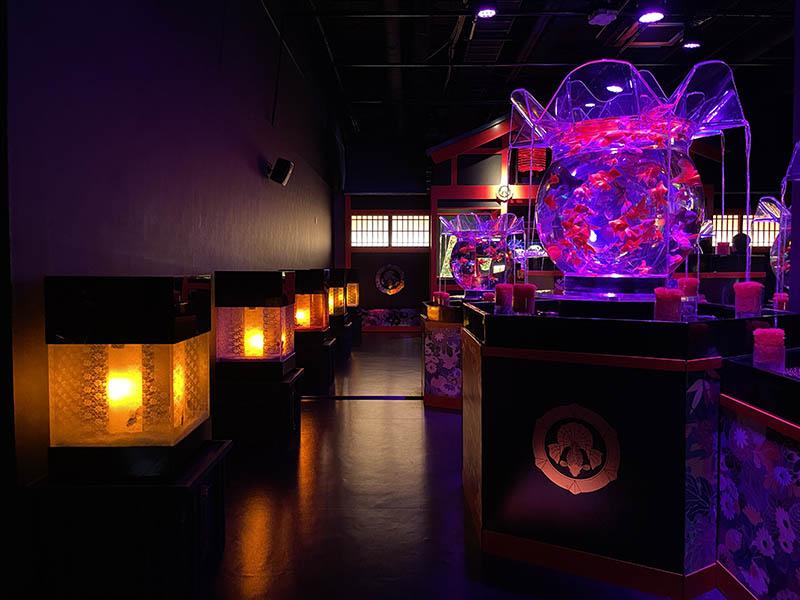 金魚水槽與燈