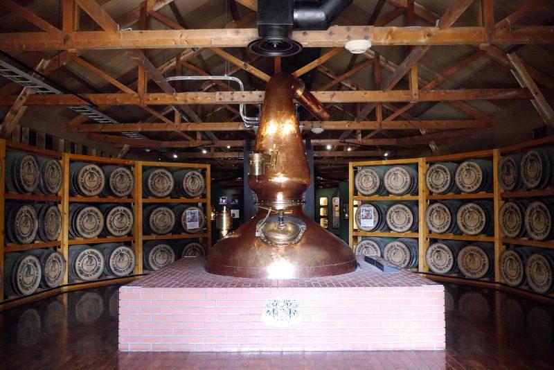 余市蒸餾所的威士忌館入口