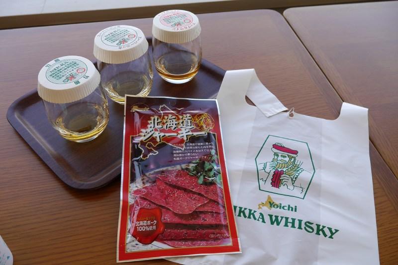 余市蒸餾所的威士忌試飲與下酒菜