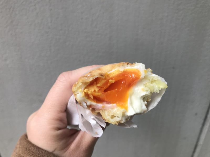 「彈塗魚燒萬十」火腿蛋口味