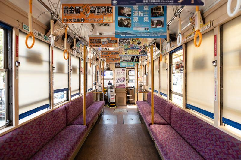 202號電車內部