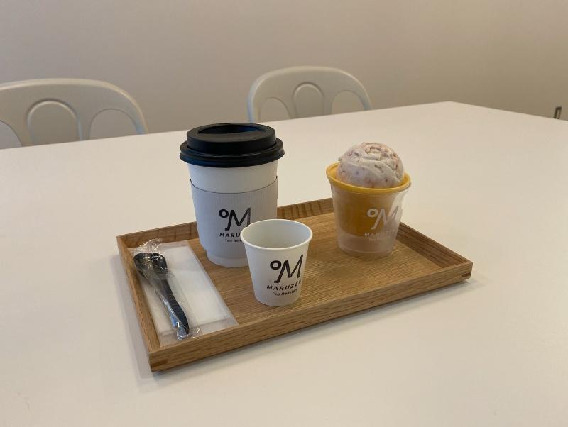 Maruzen Tea Roastery的冰淇淋及茶套餐